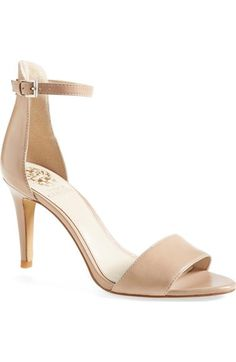 size 6.5 in beige or black; Vince Camuto 'Court' Ankle Strap Sandal (Women) available at #Nordstrom