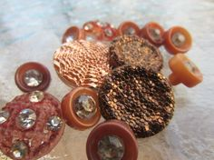Vintage Buttons  Czech Glass acrylic and by pillowtalkswf on Etsy, $12.25
