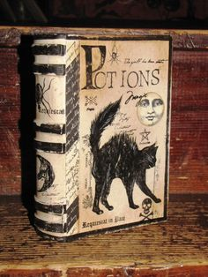 Witch Cupboard: Hand-painted #Witch #book #box.