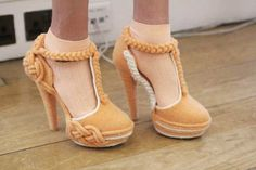 Knitwear infused shoes by Rosy Nicholas for Fred Butler