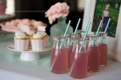 Love this idea of using these cute bottles for beverages for a summertime get-together! Mint Party, Party Party, Ideas Party, Vintage Shabby Chic, Shabby Chic Style, Milk Bottles, Paper Straws, Party Supplies, Summertime