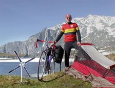 Portable charger harnesses renewable solar and wind energy. EUROPEAN TOURING ROUTE www.europeantouringroute.com