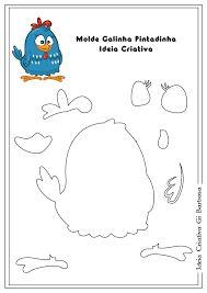 Resultado de imagem para molde da turma da galinha pintadinha em feltro