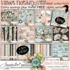 Sweet Nothings ~ Mega Bundled Collection Digital scrapbook kits $
