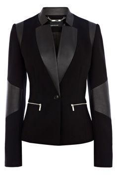 Signature jersey blazer | Luxury Women's shop_all | Karen Millen