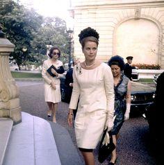 graceandfamily:  Princess Grace of Monaco arriving at charity ball in Paris on June 23, 1961