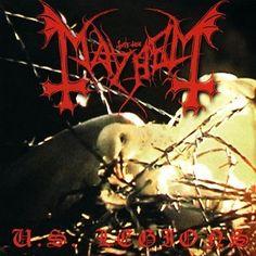 Mayhem - U. Black Metal, Heavy Metal, Extreme Metal, Metal Albums, Punk Rock, Hard Rock, Album Covers, Dinosaur Stuffed Animal, Christmas Ornaments