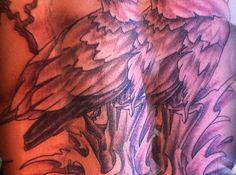 Porfolio de tattoos réalisés par Djuss chez tatouage Calypso, studio privé de tatouage professionnel à Québec. Tatoueur depuis 1996. Créations uniques.
