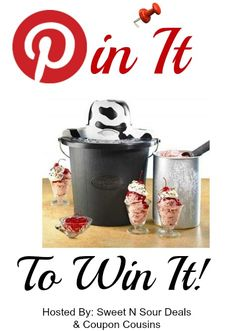 ENTER TO WIN AN AWESOME ICE CREAM MAKER #pin it to win it