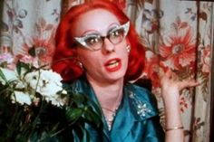 """We're talking to the hilarious Mink Stole, best known for her appearances in John Waters' films """"Pink Flamingos,"""" """"Female Trouble"""" and """"Serial Mom. John Waters Movies, Underground Film, Chub Rub, Mink Stole, Fairytale Fashion, Samurai Art, Dye My Hair, Kinds Of People, Pink Flamingos"""