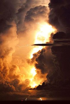 Amazing, looks like fire in the clouds