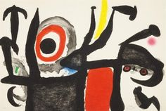Artwork by Joan Miró, Manoletina, Made of Aquatint in colors with carborundum on Mandeure rag paper