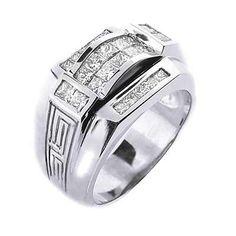 Versace Jewelry for Men | 75 Ct. Men's Diamond Ring Versace Design 14mm Wide - Mens Diamond ...