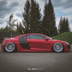 Slammed R8  • Photo by @flgntlt
