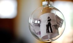 DIY photo ornament..could put grandmas pic in there along with flowers from funeral