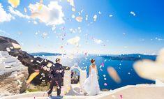 Santorini photographer Alexander Hadji: book a photo shoot now! Santorini Photographer, Santorini Wedding, Dream Wedding, Wedding Dreams, Tie The Knots, Wedding Photos, Photoshoot, Bright Colours, Tying The Knots