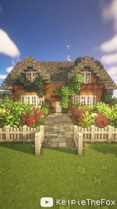Minecraft House Plans, Minecraft House Tutorials, Cute Minecraft Houses, Minecraft House Designs, Amazing Minecraft, Minecraft Blueprints, Minecraft Creations, Minecraft Cottage House, Minecraft Structures