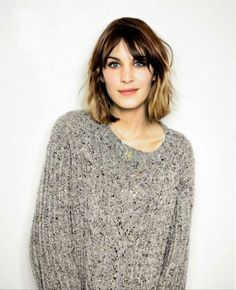 fall hair cut time.  (alexa chung)
