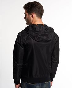 Superdry Black Flite Lite Jacket - Men's Jackets Street Fashion Tumblr, Bungee Cord, Superdry Mens, Black Edition, Men's Jackets, Hoodies, Sweatshirts, Joggers, Product Description