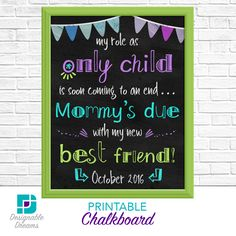Best Friend Chalkboard Announcement