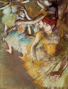 """""""Le ballerine"""", Edgar Degas, pastello, 1883, conservato al Dallas Museum of Arts, Dallas."""