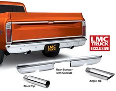 Chrome Rear Bumper with Exhaust Cutouts