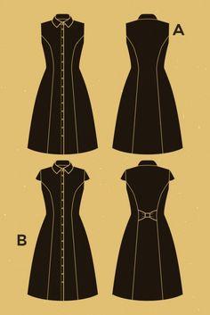 Deer and Doe Ladies Sewing Pattern Bleuet Dress | Sewing | Patterns | Minerva Crafts