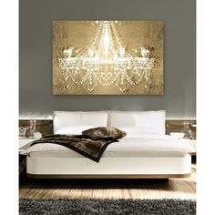 Dramatic Entrance Gold Canvas Print, Oliver Gal - Up on Display on Joss & Main