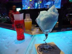 Cotton candy martini at T-Rex in Downtown Disney....looks yummy!