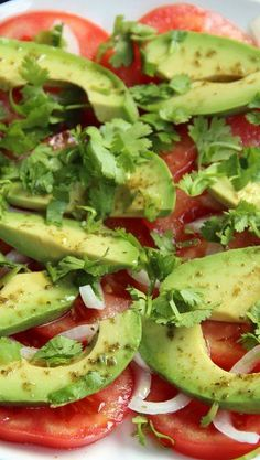 Simple avocado and tomato salad