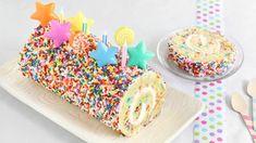 Blogger Heather Baird of  SprinkleBakes  bakes a sprinkle-inspired celebration cake.