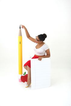 DIY Giant Mail Tube Pencil Piggy Bank