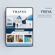SWIPE TO SEE >> . Love to travel? The Freya template is named after famous explorer and travel writer Freya Stark. . She wrote more than two dozen books on her travels in the Middle East and Afghanistan as well as several autobiographical works and essays. . We couldn't think of a better role model for the wanderlust CEO that needs her biz to go where she goes . Take the free brand personality quiz and find out your brand style archetype (click the link in my bio - @erinkmonaghancreative) Business Tips, Online Business, Wordpress Template, Archetypes, Fashion Branding, Follow Me On Instagram, Afghanistan, Middle East, Role Models