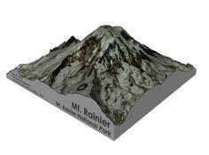 "Mt. Rainier 5"" 3d printed"