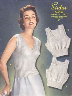 Vintage Ladies Sencers in 3 Sizes and 3 Styles, Knitting Pattern, (PDF) Pattern, Sirdar 7462 by on Etsy Vintage Ladies, Retro Vintage, Knitting Patterns, Crochet Patterns, Vintage Outfits, Vintage Fashion, Vintage Knitting, Vintage Patterns, Vintage Looks