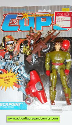Cops 'n Crooks CHECKPOINT c.o.p.s. hasbro toys 1988 vintage action figures moc