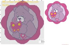 Care Bear with butterfly cross stitch pattern