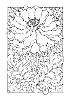 Cool Design Coloring Book 64 Coloring page flower coloring