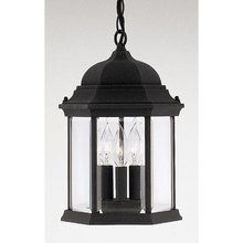 "View the Designers Fountain 2984-BK 3 Light 9.5"" Cast Aluminum Hanging Lantern from the Devonshire Collection at Build.com."