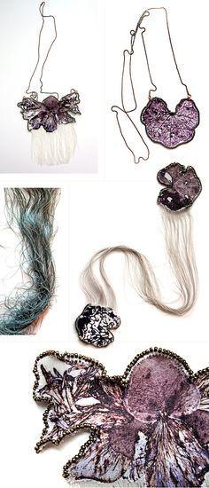 textile jewelry by Esther Yaloz