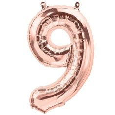 Items similar to Rose Gold Number 9 Balloons, Small, Balloon Anniversary Birthday balloon Alphabet or Number Foil Balloon NINE on Etsy Helium Number Balloons, Gold Letter Balloons, 5 Balloons, Metallic Balloons, One Balloon, Rose Gold Balloons, Custom Balloons, Balloon Columns, Confetti Balloons