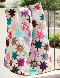 Sparkle Punch by Elizabeth Hartman. Learn how to make this quilt in the July/Aug issue of Love of Quilting!
