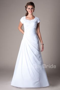 Love this, would look cute with 3/4 lace sleeve too :)  ps I'm not Mormon, I just like their dresses!