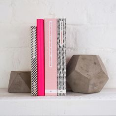Concrete book ends #books #DIY #craft #home #style
