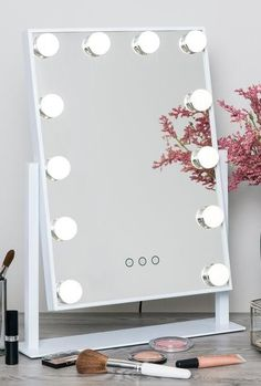 DIY makeup mirror ideas to make your room more beautiful vanity mirror bathro .DIY makeup mirror ideas to make your room more beautiful vanity mirror bathroom mirror espejo Hollywood Makeup cosmetic mirror with Smart Touch, Diy Makeup Mirror, Makeup Vanity Mirror With Lights, Makeup Vanity Decor, Lighted Vanity Mirror, Makeup Vanity Lighting, Lumiere Led, Cute Room Decor, Beauty Room, Decorating Your Home