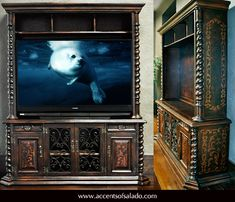 Spanish Hacienda Media Cabinets - See them now at Accents of Salado Furniture Store.