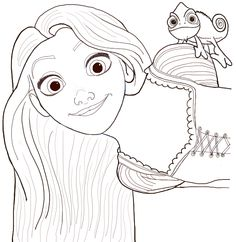 How to Draw Rapunzel and Pascal from Tangled with Easy Step by Step Tutorial