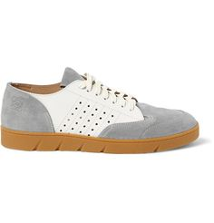 Suede and Leather Sneakers | MR PORTER
