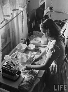 A typical day of a 1940's housewife   The 1940's was great era for fashion and glamour , and during the war - it seemed to herald a new a...