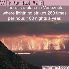 Catatumbo lightning, Venezuela lightening place - WTF fun facts <--- I'd go see that The More You Know, Good To Know, Did You Know, Oh The Places You'll Go, Cool Places To Visit, Places To Travel, All Nature, Amazing Nature, Paisajes